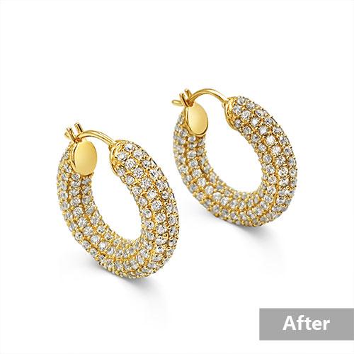 Jewelry retouching service-Zenone studio - basic jewelry retouching add shodow a