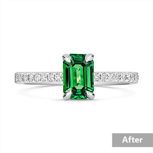 Jewelry retouching service-Zenone studio - basic jewelry retouching adjust brightness a
