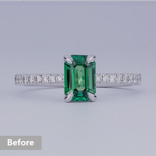 Jewelry retouching service-Zenone studio - basic jewelry retouching adjust brightness b