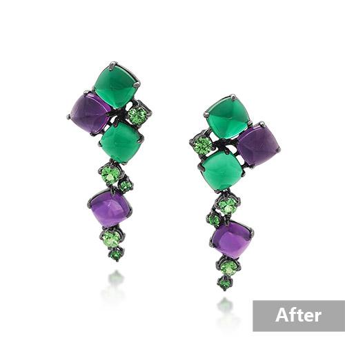 Jewelry retouching service-Zenone studio - basic jewelry retouching remove holding a