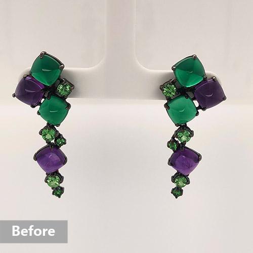 Jewelry retouching service-Zenone studio - basic jewelry retouching remove holding b