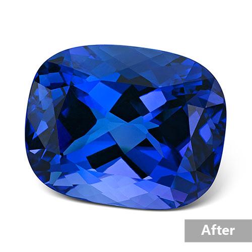 Jewelry retouching service-Zenone studio - change jewelry stone color a