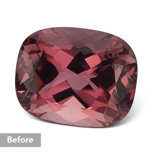 Jewelry retouching service-Zenone studio - change jewelry stone color b