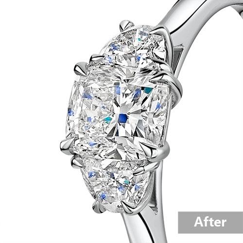Jewelry retouching service-Zenone studio - highend jewelry retouching enhance diamond a