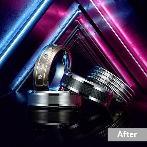 Jewelry retouching service-Zenone studio - highend jewelry retouching image manipulation a