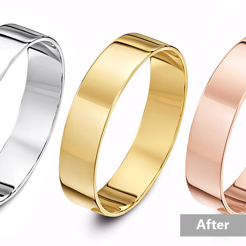 change jewelry color service, change to three different color gold
