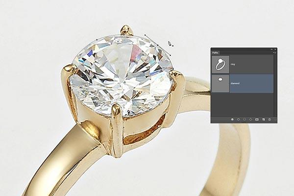 Jewelry retouching service-Zenone studio - draw path around jewelry