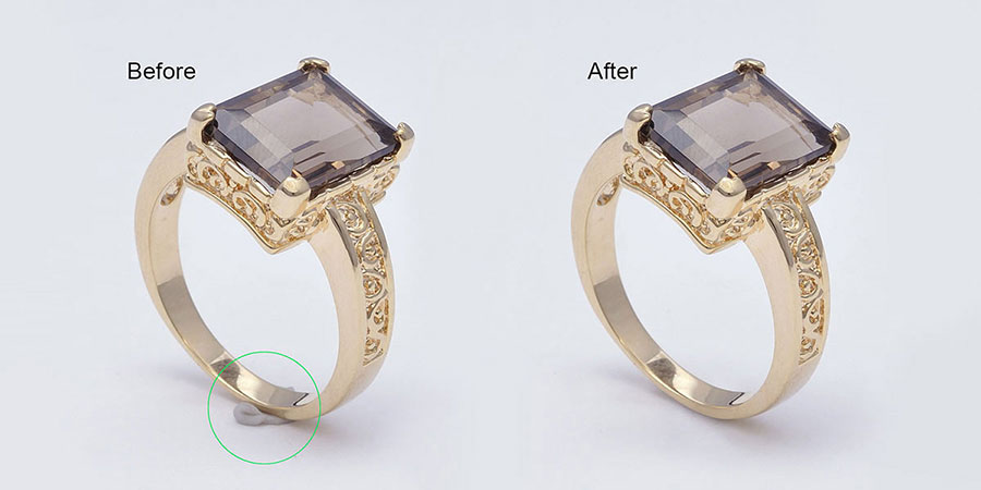 Jewelry retouching service-Zenone studio - how to remove wax before after 1