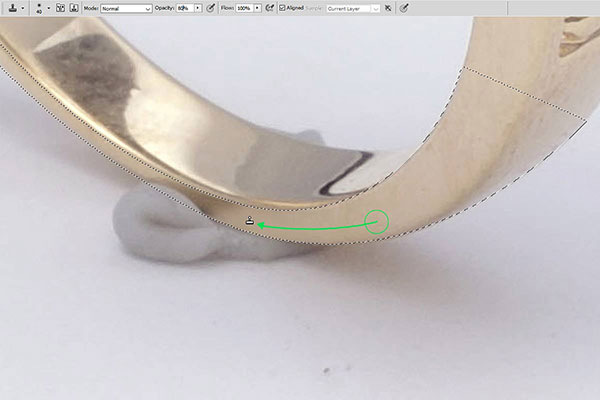 Jewelry retouching service-Zenone studio - how to remove wax step 3 retouch rings