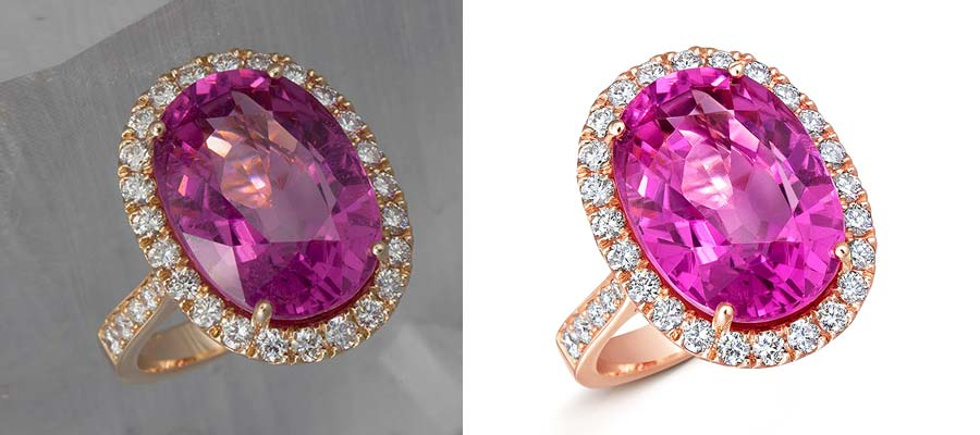edit jewelry photo,before and after example