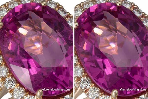Jewelry retouching service-Zenone studio - how to retouch jewelry clean stone
