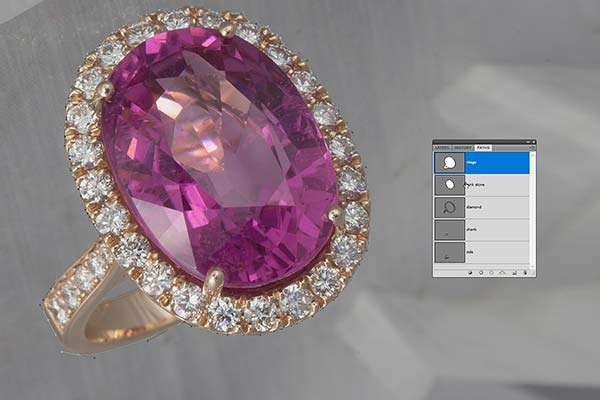 Jewelry retouching service-Zenone studio - how to retouch jewelry clipping path