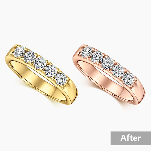 Jewelry retouching service-Zenone studio - jewelry retouching example recolor a