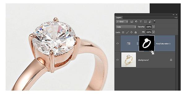Jewelry retouching service-Zenone studio - selec diamond selection